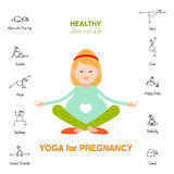 Pregnant woman, Happy mom concept, yoga for pregnancy Royalty Free Stock Images