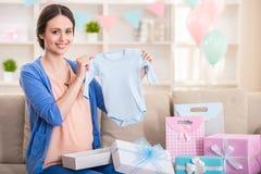 Pregnant woman. stock image