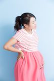 Pregnant woman have pain Royalty Free Stock Photo
