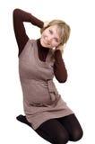 Pregnant woman having fun Royalty Free Stock Photos