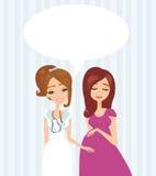 Pregnant Woman Having a Prenatal Checkup. Illustration of a Pregnant Woman Having a Prenatal Checkup Royalty Free Stock Image