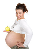 Pregnant woman and healthy food Royalty Free Stock Images