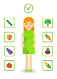 Pregnant woman healthy food Royalty Free Stock Image