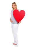 Pregnant woman heart Royalty Free Stock Image