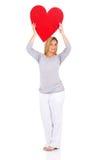 Pregnant woman heart shape Stock Photography