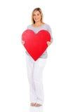 Pregnant woman heart shape Stock Photo