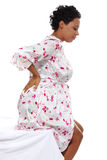 Pregnant woman heaving back pain Royalty Free Stock Images