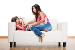 Pregnant woman with her daughter Royalty Free Stock Photography