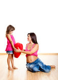 Pregnant woman with her daughter Stock Photo
