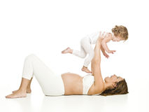Pregnant woman with her daughter Stock Photography