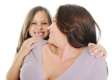 Pregnant woman with her daughter Stock Photos