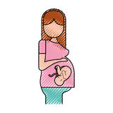 Pregnant woman with her fetus Royalty Free Stock Images