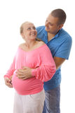 Pregnant woman with her husband. Stock Photo