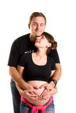 Pregnant woman and her husband Royalty Free Stock Photo