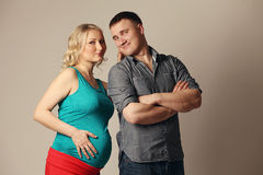 Pregnant woman with her husband Stock Photography