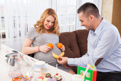 Pregnant woman and her husband Royalty Free Stock Image