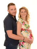 Pregnant woman and her partner Stock Images