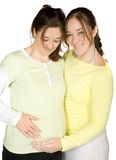 Pregnant woman and her sister Royalty Free Stock Images