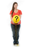 Pregnant Woman holding balloon Stock Images
