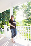 Pregnant woman at home Royalty Free Stock Photography