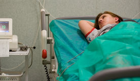 Pregnant woman in hospital Royalty Free Stock Image