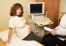 Pregnant woman  at hospital Royalty Free Stock Image
