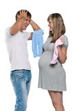 Pregnant woman with husband Royalty Free Stock Photography