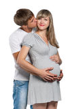 Pregnant woman with husband Stock Image