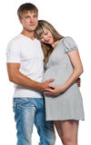 Pregnant woman with husband Stock Photography
