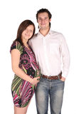 Pregnant woman with husband Royalty Free Stock Photos