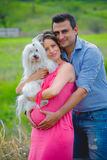 Pregnant woman and husband Stock Photography