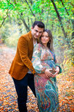 Pregnant woman and husband Royalty Free Stock Photography