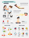 Pregnant woman infographics Stock Image