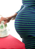 Pregnant woman and iron Stock Image