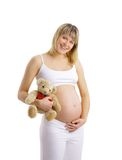 Pregnant woman isolated Stock Photos