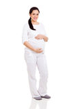 Pregnant woman isolated Stock Photo