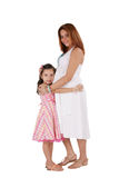 Pregnant woman with little daughter Royalty Free Stock Photo