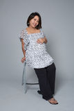 Pregnant woman looking radiant Stock Images