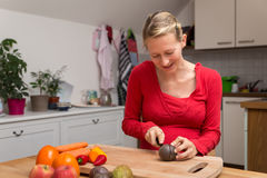 Pregnant woman makes a adequate nutrition Royalty Free Stock Photography