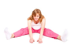 Pregnant Woman Making Fitness Royalty Free Stock Photos