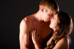 Pregnant woman and man Royalty Free Stock Photos