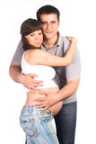 Pregnant woman with man Stock Image