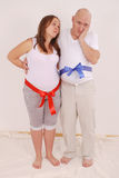 Pregnant woman and man Royalty Free Stock Photo