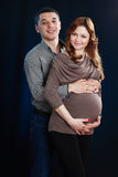 Pregnant woman and man Royalty Free Stock Photography