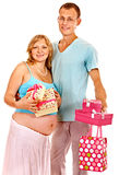 Pregnant woman with man. Stock Photography
