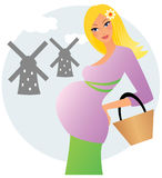 Pregnant woman in Netherlands Royalty Free Stock Photography