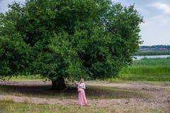 Pregnant woman outdoor Stock Photo