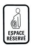 Pregnant woman parking sign. Pregnant woman reserved parking sign isolated on white stock image