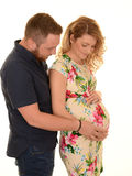 Pregnant woman and partner Royalty Free Stock Images