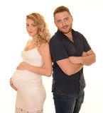 Pregnant woman and partner Royalty Free Stock Image